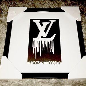 NEW Louis Vuitton framed art reprint dripping lv